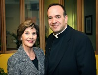 Fmr. First Lady Laura Bush and Fr. Jim