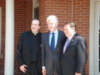 Fr. Jim, President Bill Clinton, Jerry Lundergan